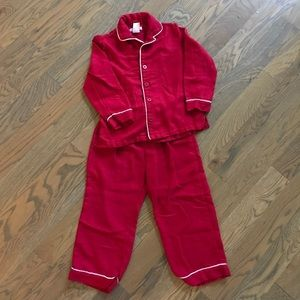 Red Pottery Barn Kids Pajamas size 6